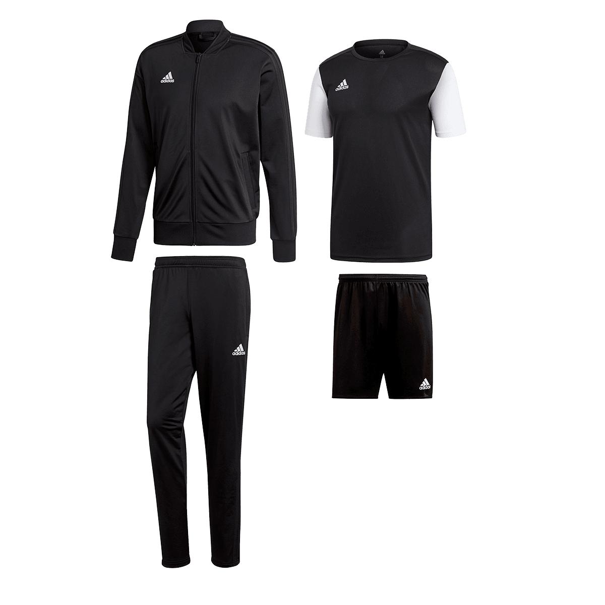 4 częściowy zestaw treningowy Adidas (dres + koszulka + spodenki) @ geomix