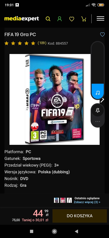 FIFA 19 PC w mediaexpert
