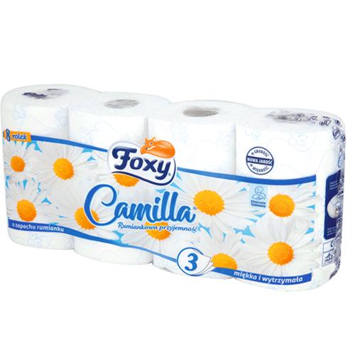 Papier toaletowy Foxy 3-warstwowy,8 sztuk opakowanie w sklepie Intermarche