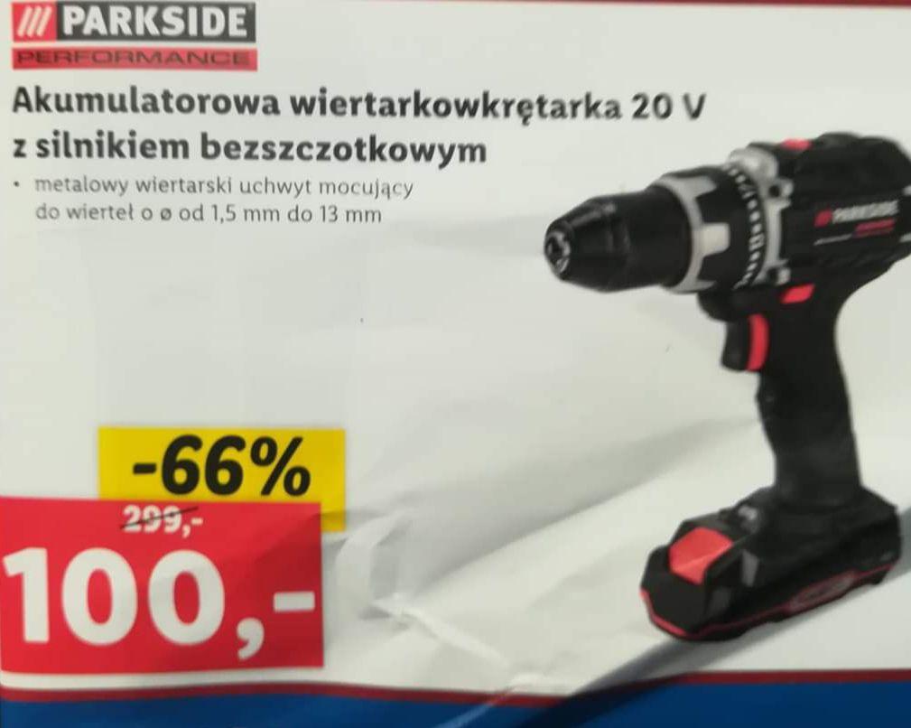Parkside performance akumulatorowa wiertarko-wkrętarka 20V Lidl Wrocław