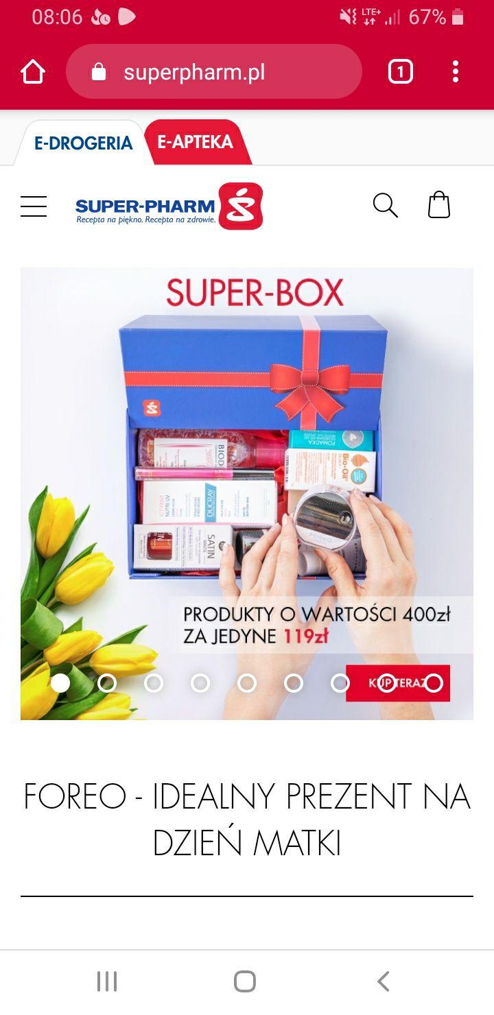 Super-pharm box ze szczoteczką luna play + kosmetyki