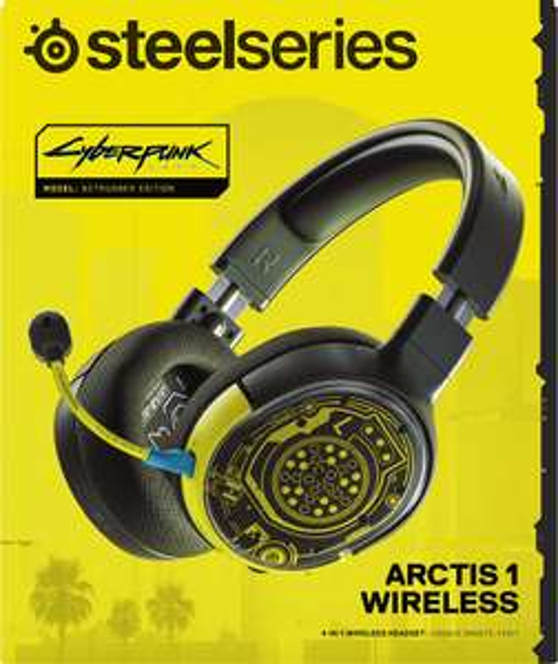 Bezprzewodowe słuchawki SteelSeries Arctis 1 Cyberpunk Edition @Euro