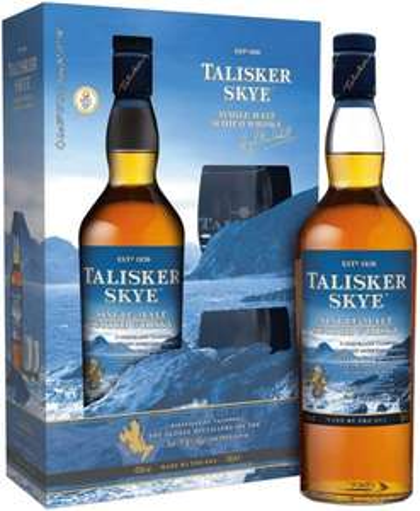 Talisker Skye + 2 szklanki (w pudełku) whisky single malt Szczyrba Alkohole