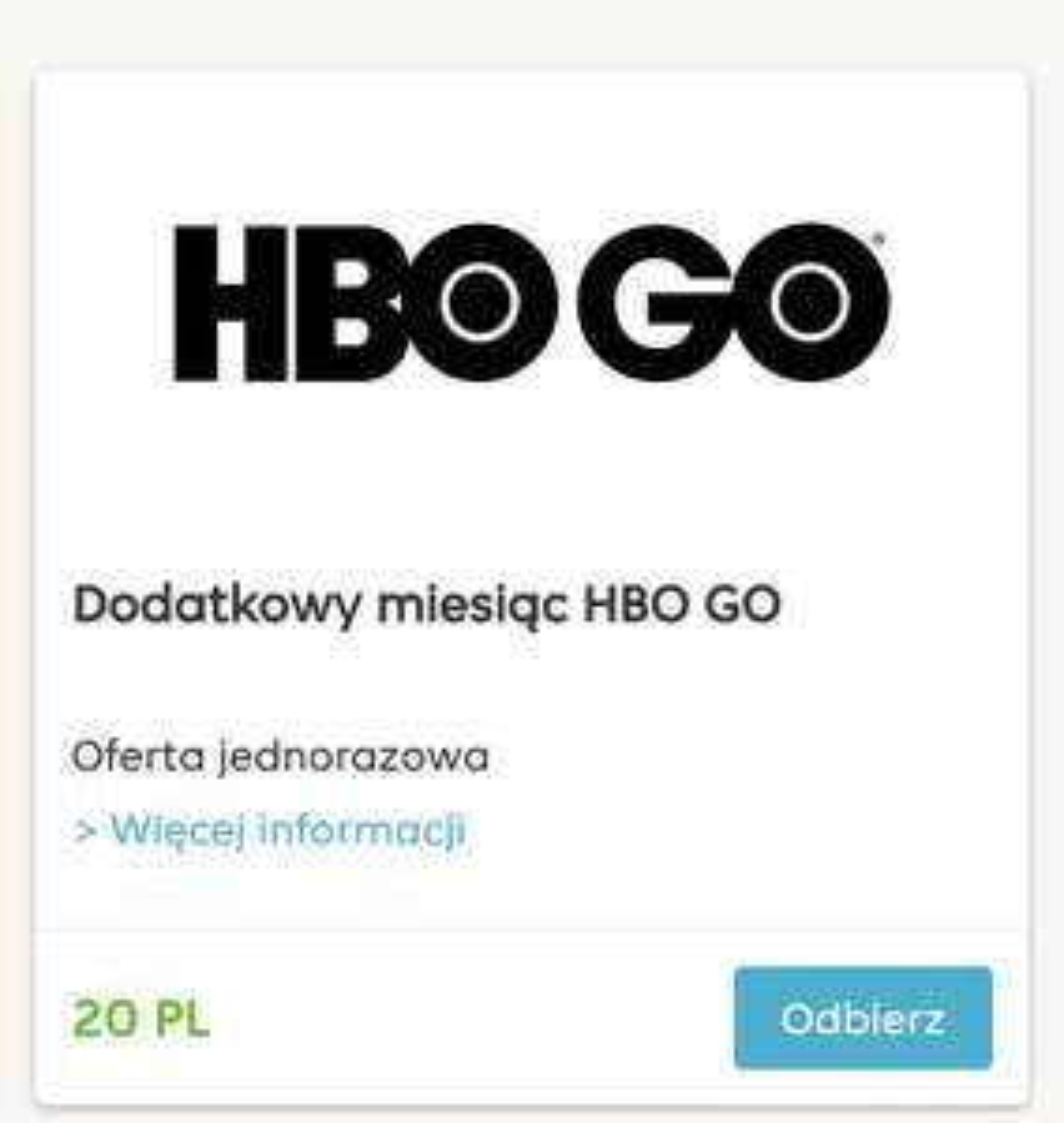 Dodatkowy miesiąc w HBO GO od pyszne.pl