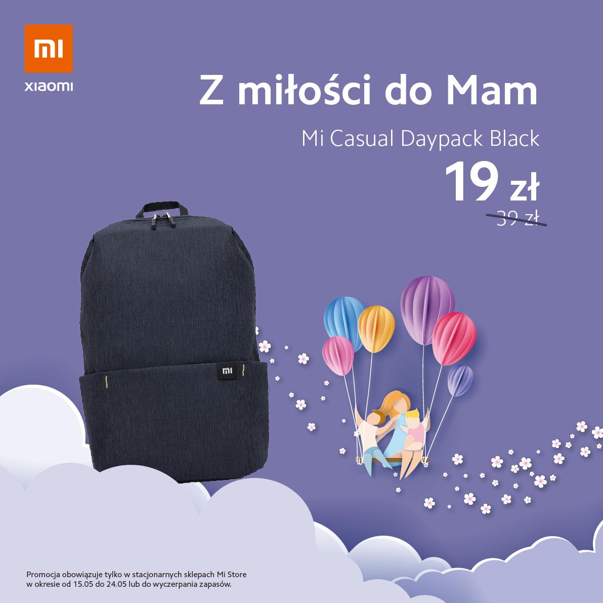Z okazji Dnia Mamy - Popularny Plecak od Xiaomi Mi Casual Daypack poj. 10 litrów- stacjonarnie