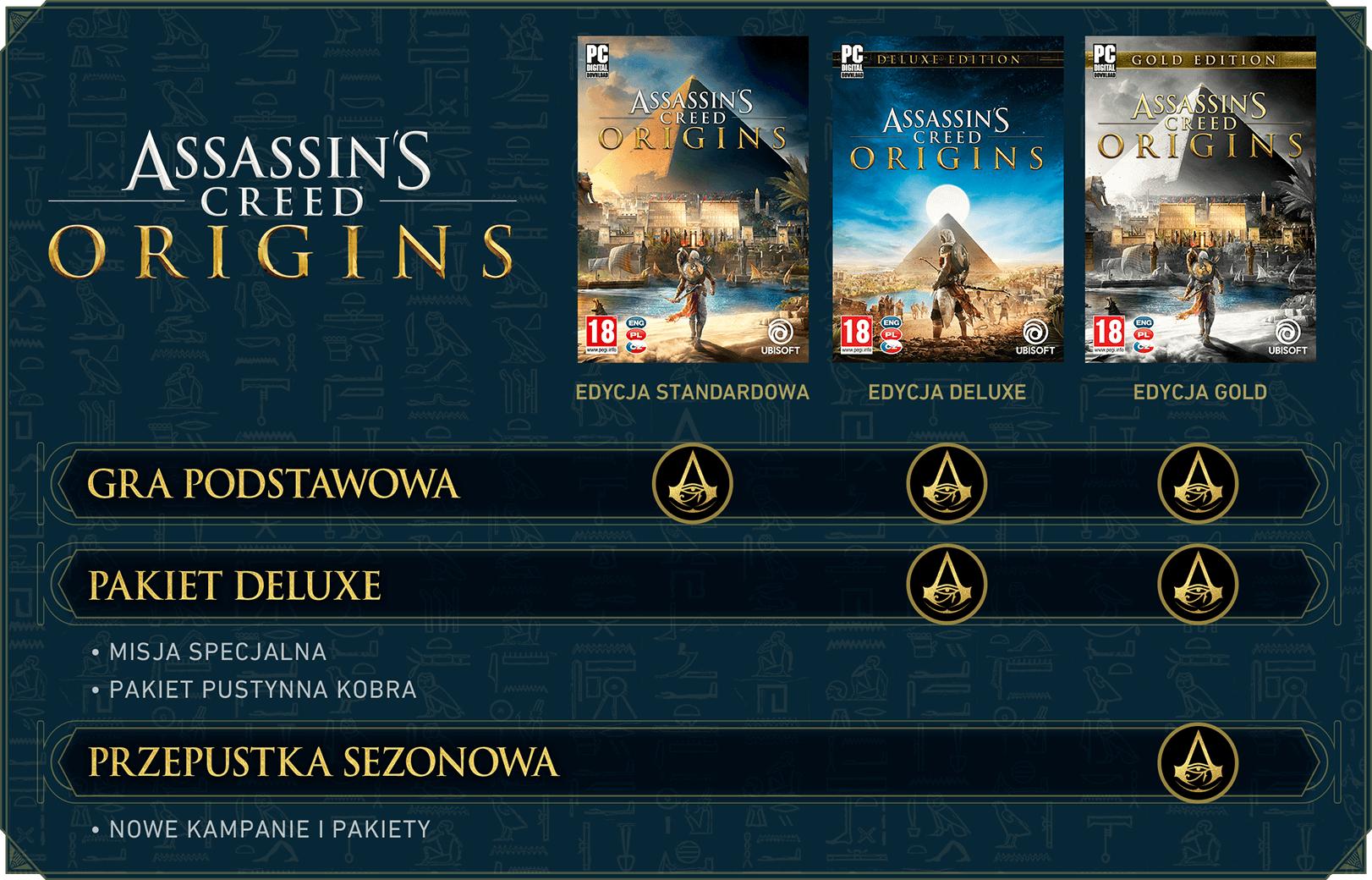 Assassins Creed Origins - Złota edycja (możliwe 49,97zł z kuponem za GTA V)