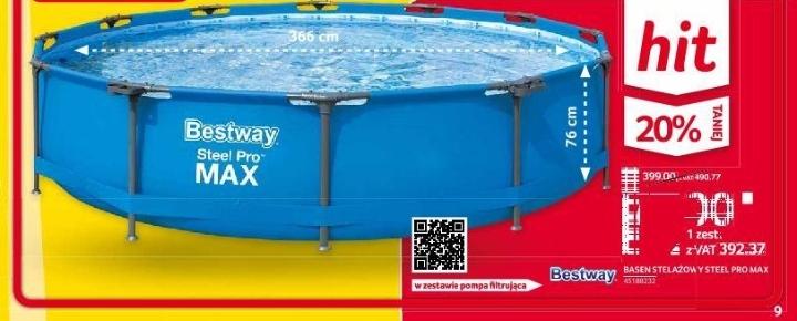 BASEN STELAŻOWY BESTWAY STEEL PRO MAX 366x76 + pompa filtrująca Selgros
