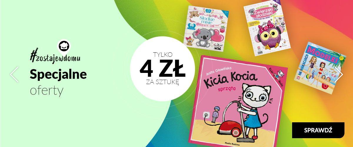Książeczki dla dzieci w tym Kicia Kocia od 3,99