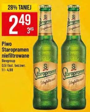Piwo niefiltrowane Staropramen
