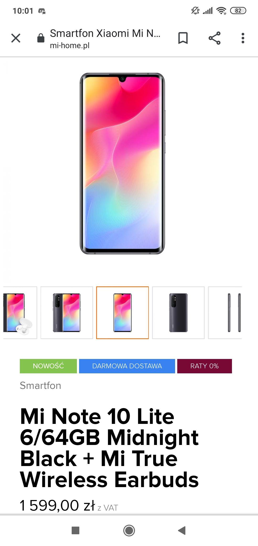Xiaomi Mi Note 10 Lite + Mi True Wireless Earbuds