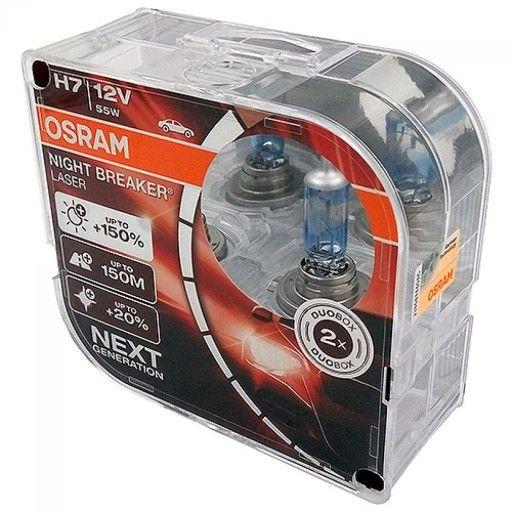 Żarówki samochodowe H7 Osram Night Breaker Laser +150% 2 szt.