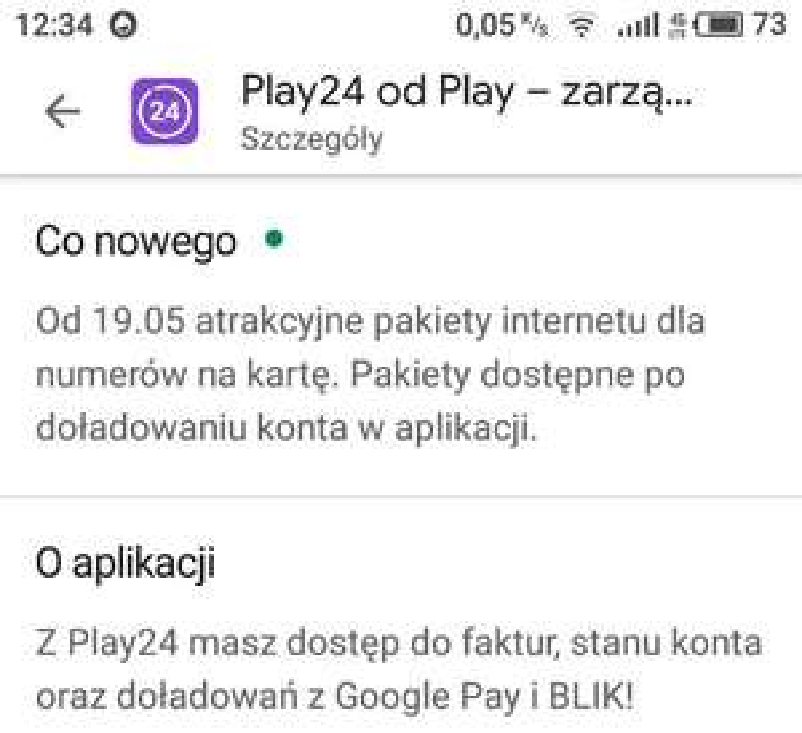 """@Play od 19.05 """"atrakcyjne """" pakiety internetu po doładowaniu/ numery na kartę/"""