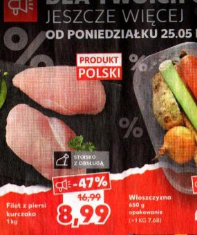 Filet z piersi kurczaka 8,99 zł/kg -Kaufland