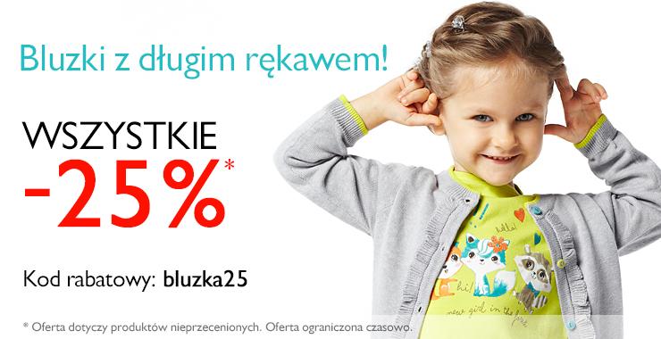 Rabat -25% na bluzki z długim rekawem @ 5.10.15.