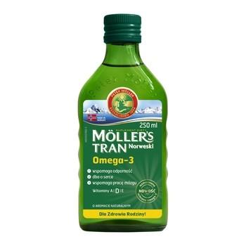 Moller's Tran Norweski, aromat naturalny, 250 ml - Data 31.10