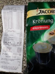 Kawa Jacobs Espresso ziarnista za 10,99 za 500g z kuponami.
