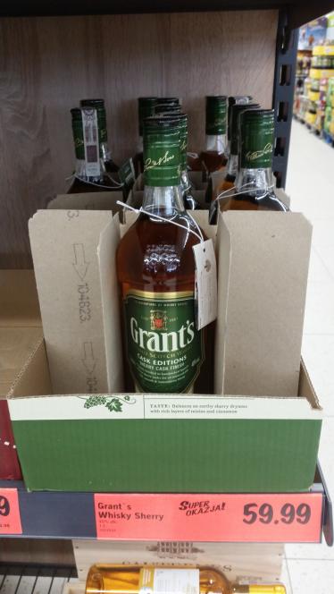 Grant's Whisky Sherry (zielone) 1L za 59.99 zł @Lidl