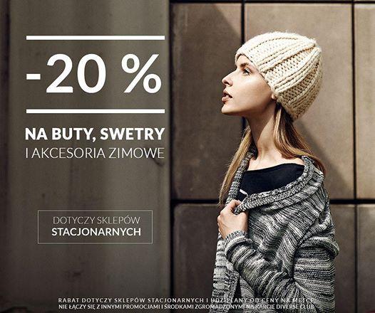 Rabat -20% na buty, swetry i akcesoria zimowe @ Diverse