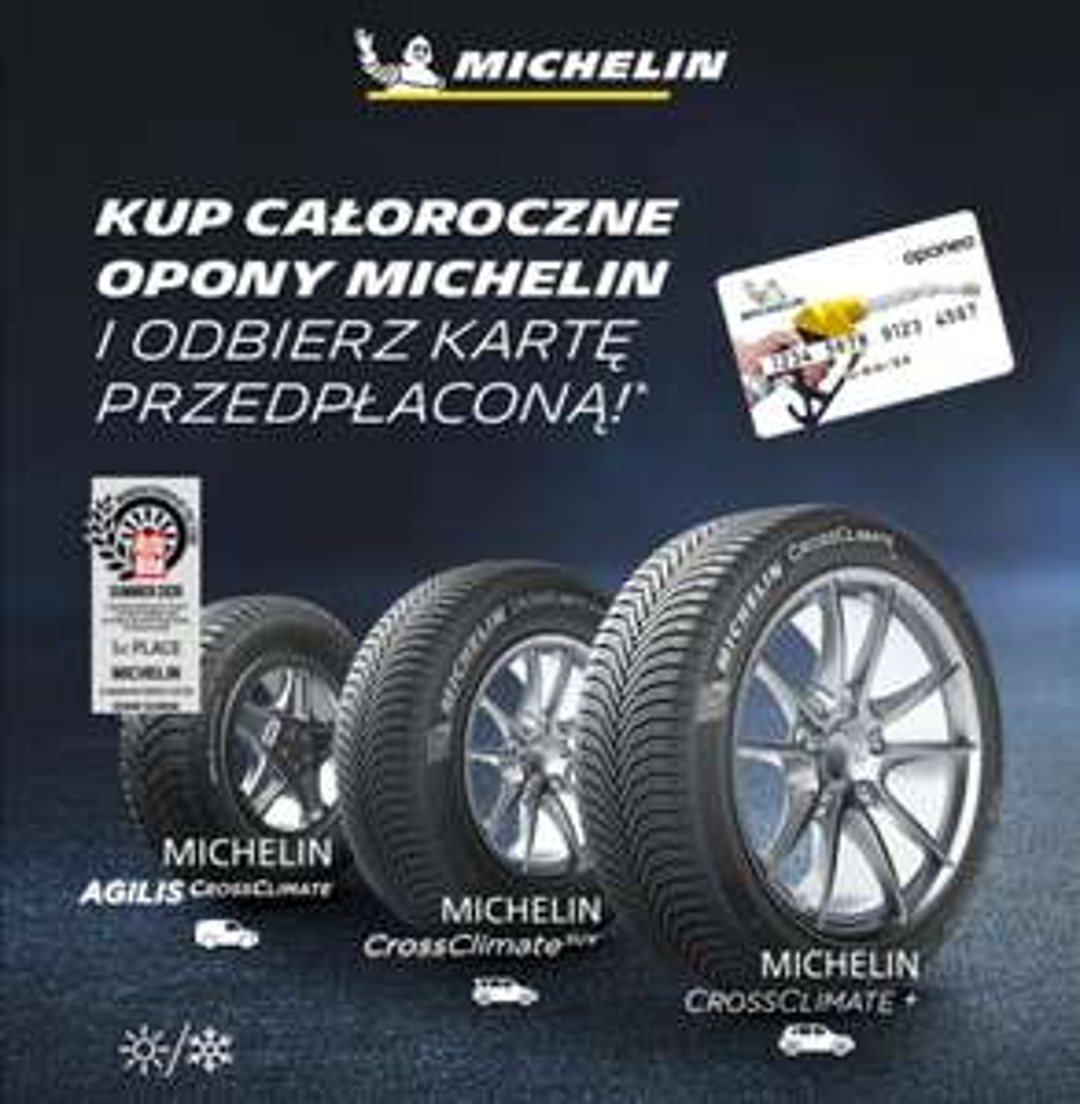 Bon paliwowy karta przedpłacona Mastercard za zakup kompletu całorocznych Michelin CrossClimate
