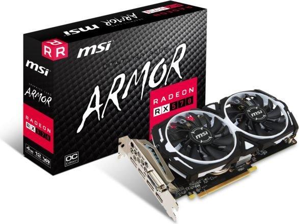 Karta graficzna MSI Radeon RX 570 ARMOR 4GB OC