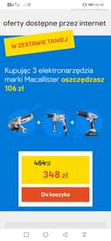 Elektronarzędzia Macallister 3w1 Castorama