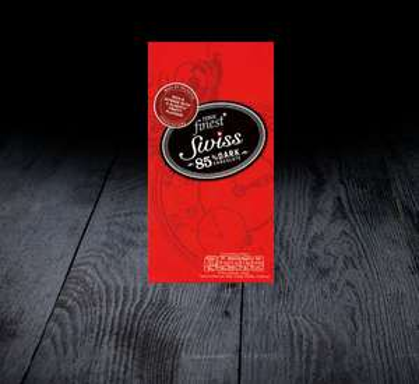 Szwajcarska ciemna czekolada 85% kakao 100g za 5,59PLN (możliwe 3,92PLN) @ Tesco