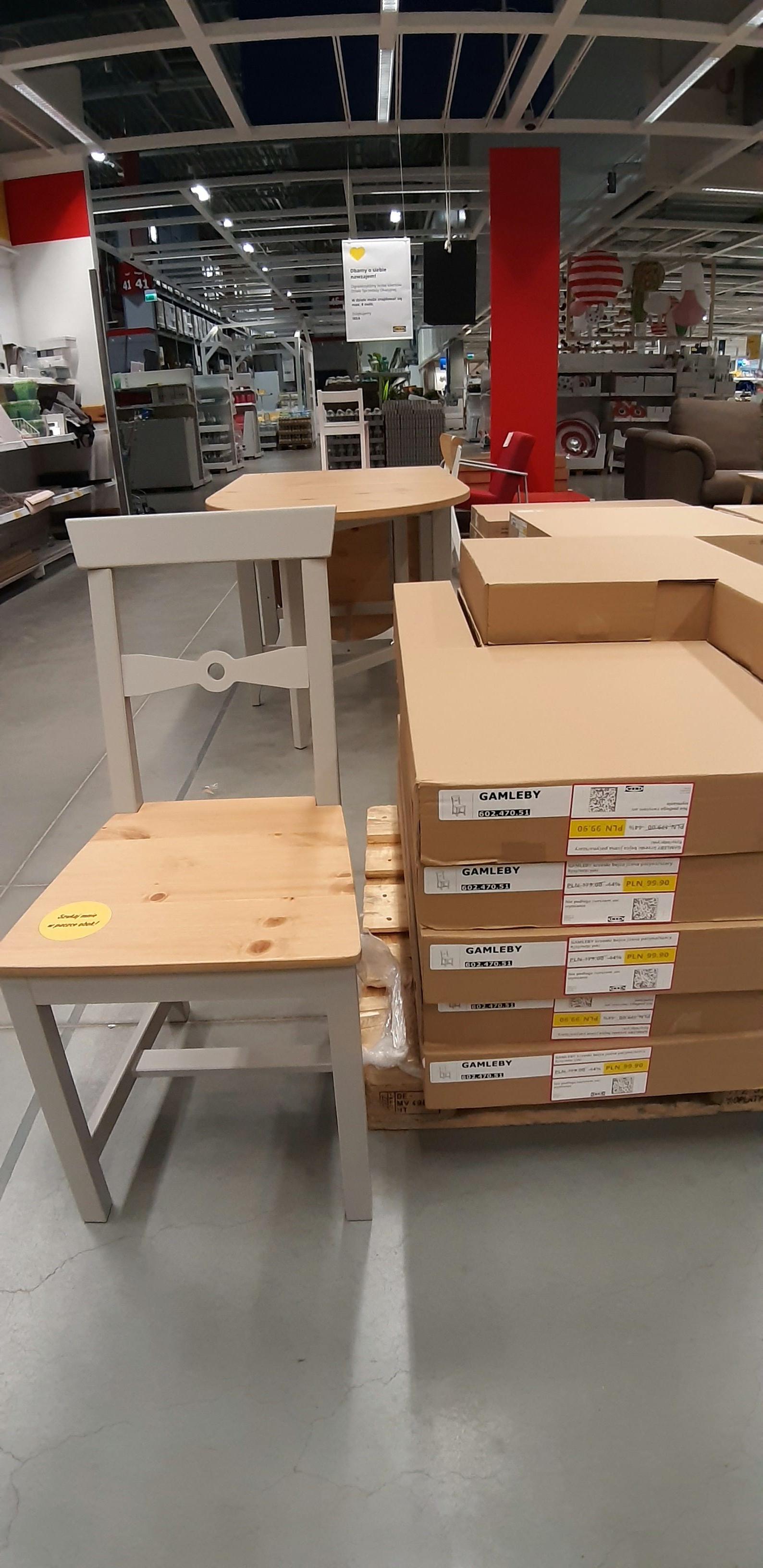 Krzesła GAMLEBY ponad -40% taniej! IKEA Bydgoszcz