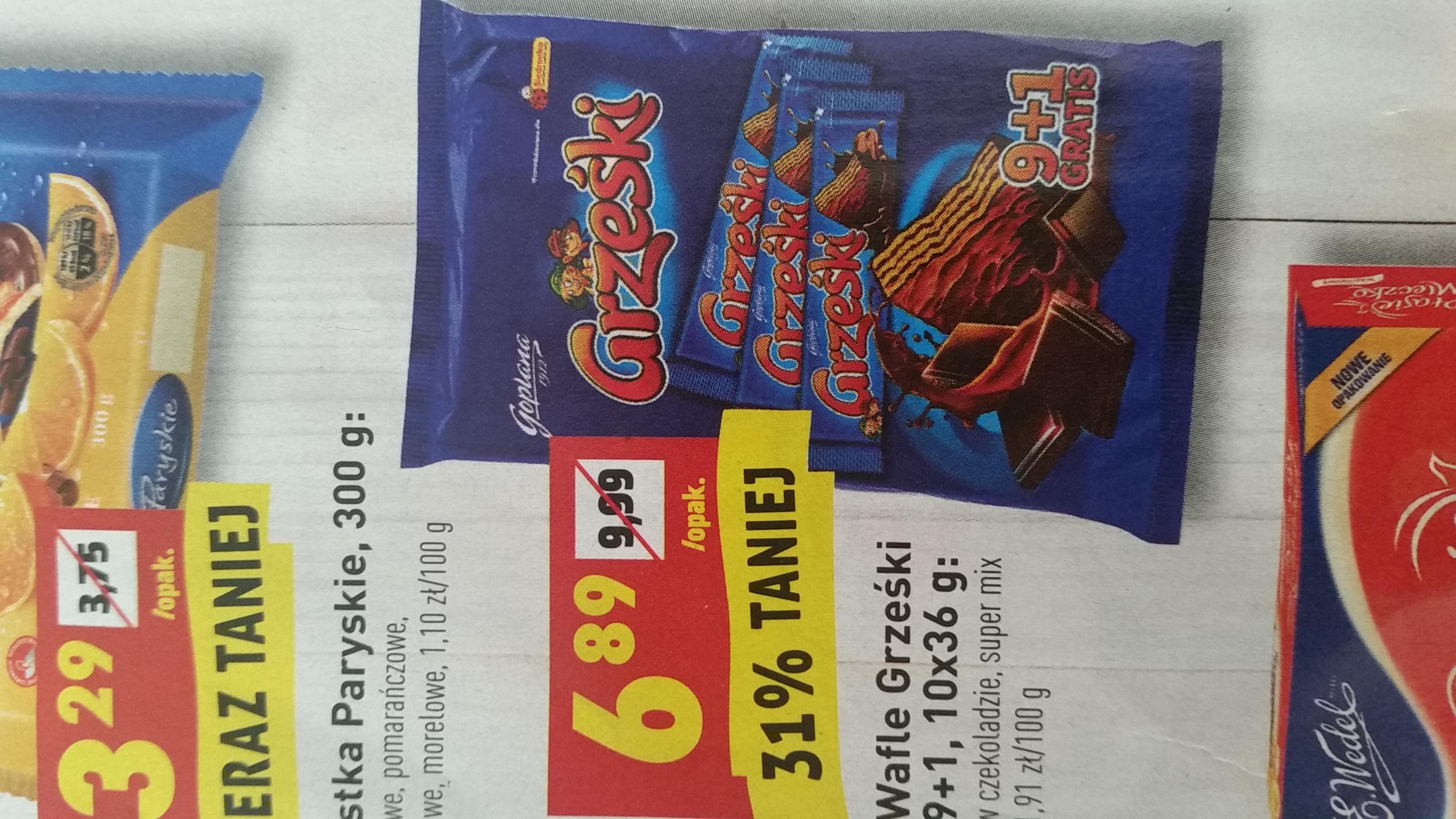 Grześki w czekoladzie x10 @Biedronka