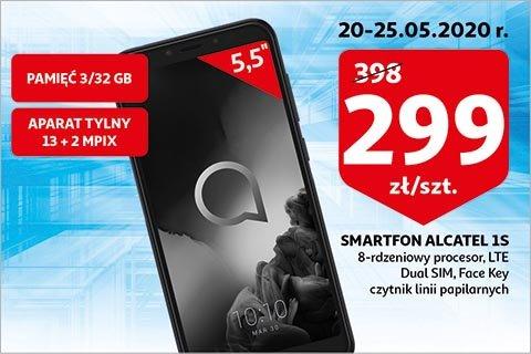Telefon ALCATEL 1S 3/32GB 2019 w Auchan. LTE, DualSIM, aparat 13+2 Mpix