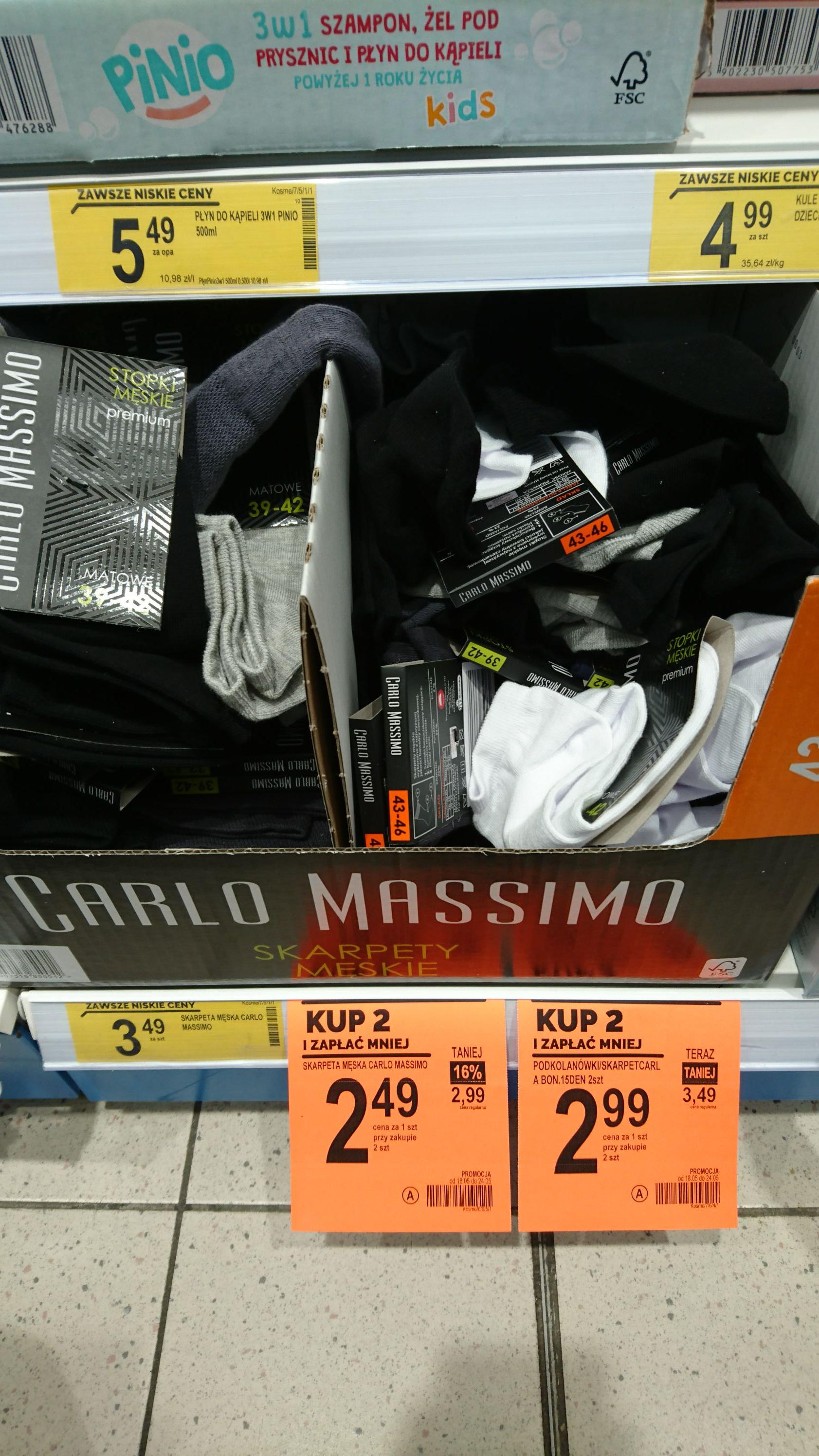 Biedronka stopki skarpeta męska Carlo Massimo kup 2 i zapłać mniej