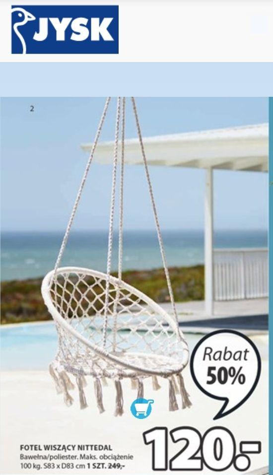 Jysk krzesło wiszące typu bocianie gniazdo Nittedal 21.05-03.06