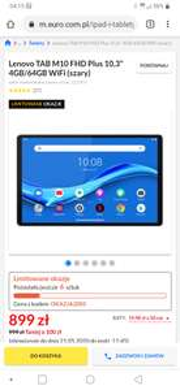 "Lenovo TAB M10 Plus 10,3"" 4GB/64GB WiFi (Nocna promo)"