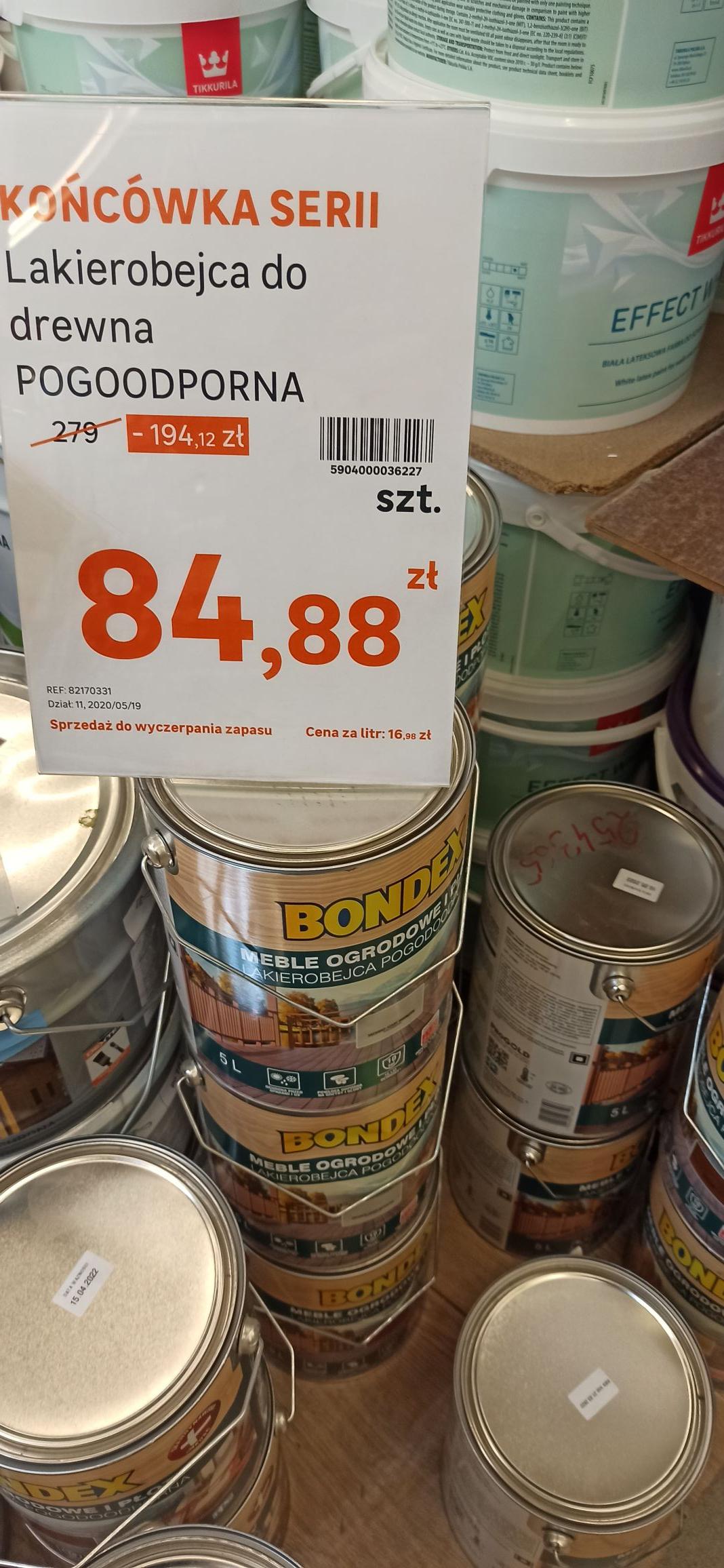 Lakierobejca do drewna, farba, lazura, 5 litrów, 2.5 litra, leroy merlin Puławy