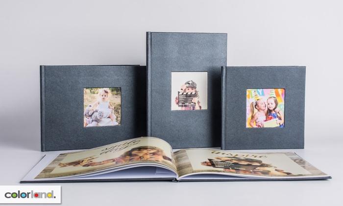 Fotoksiążki LUX (papier kredowy, w oprawie z eko skóry lub tkaninie introligatorskiej, różne rozmiary, 40-80 stron) @ Groupon