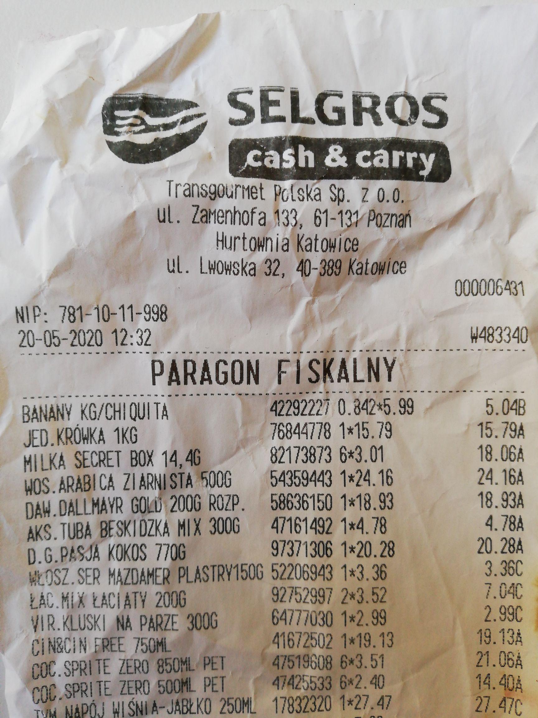 Sprite zero 0.5 l i 0.85 l Selgros Katowice