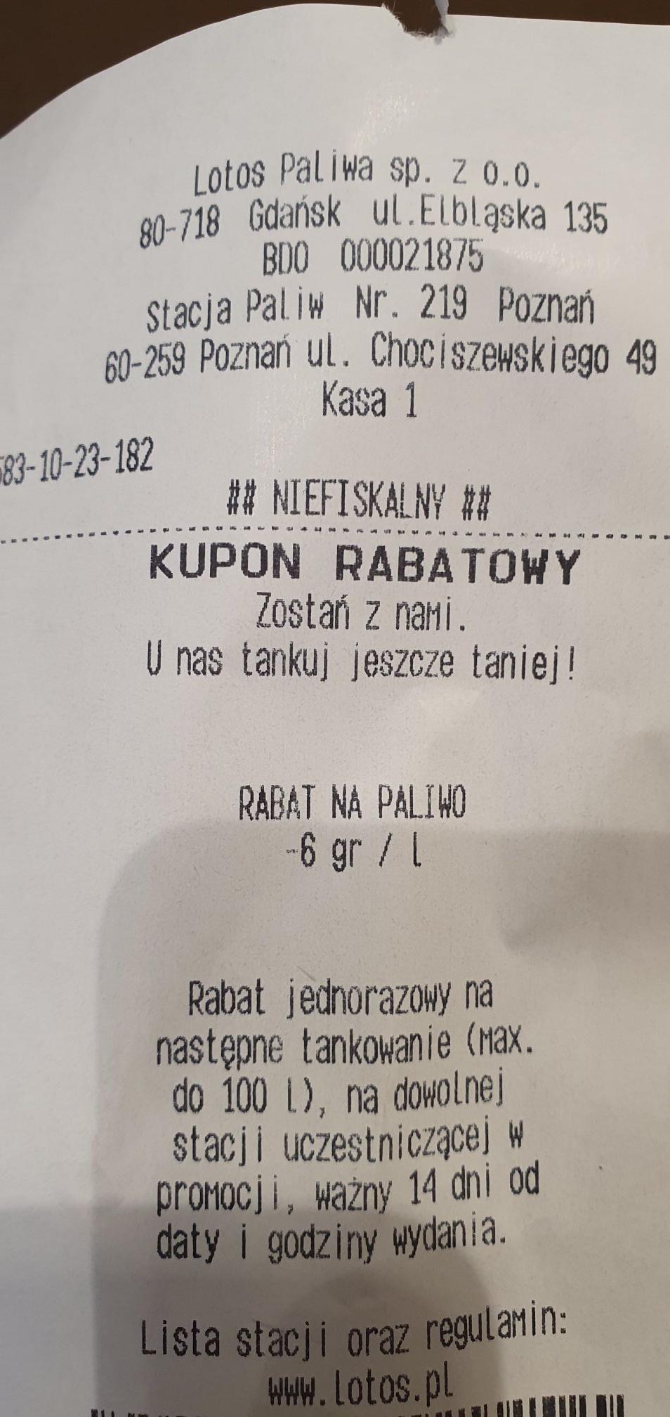 Kod rabatowy -6gr/l