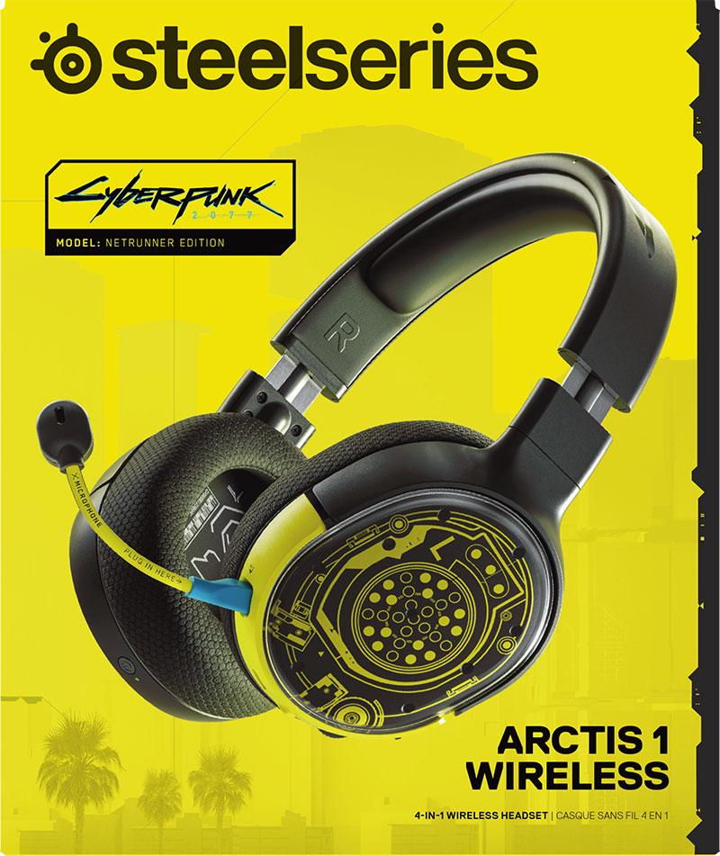 RTVeuroAGD Sluchawki Bezprzewodowe Nauszne SteelSeries Arctis 1 Cyberpunk Edition PC Playstation 4 Xbox One.