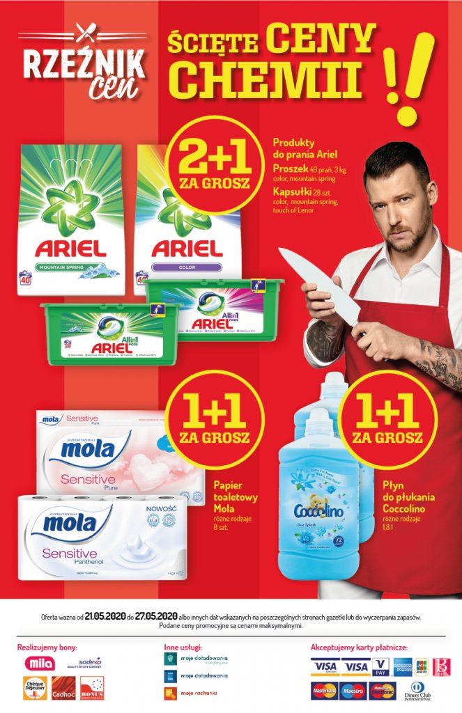 MILA - Papier toaletowy Mola 1+1 za grosz (różne rodzaje)