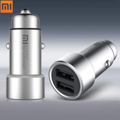 Szybka ładowarka samochodowa 2 x USB Xiaomi
