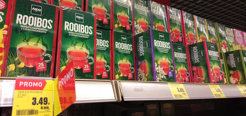 Rooibos w saszetkach herbata czysta + smakowe Intermarche