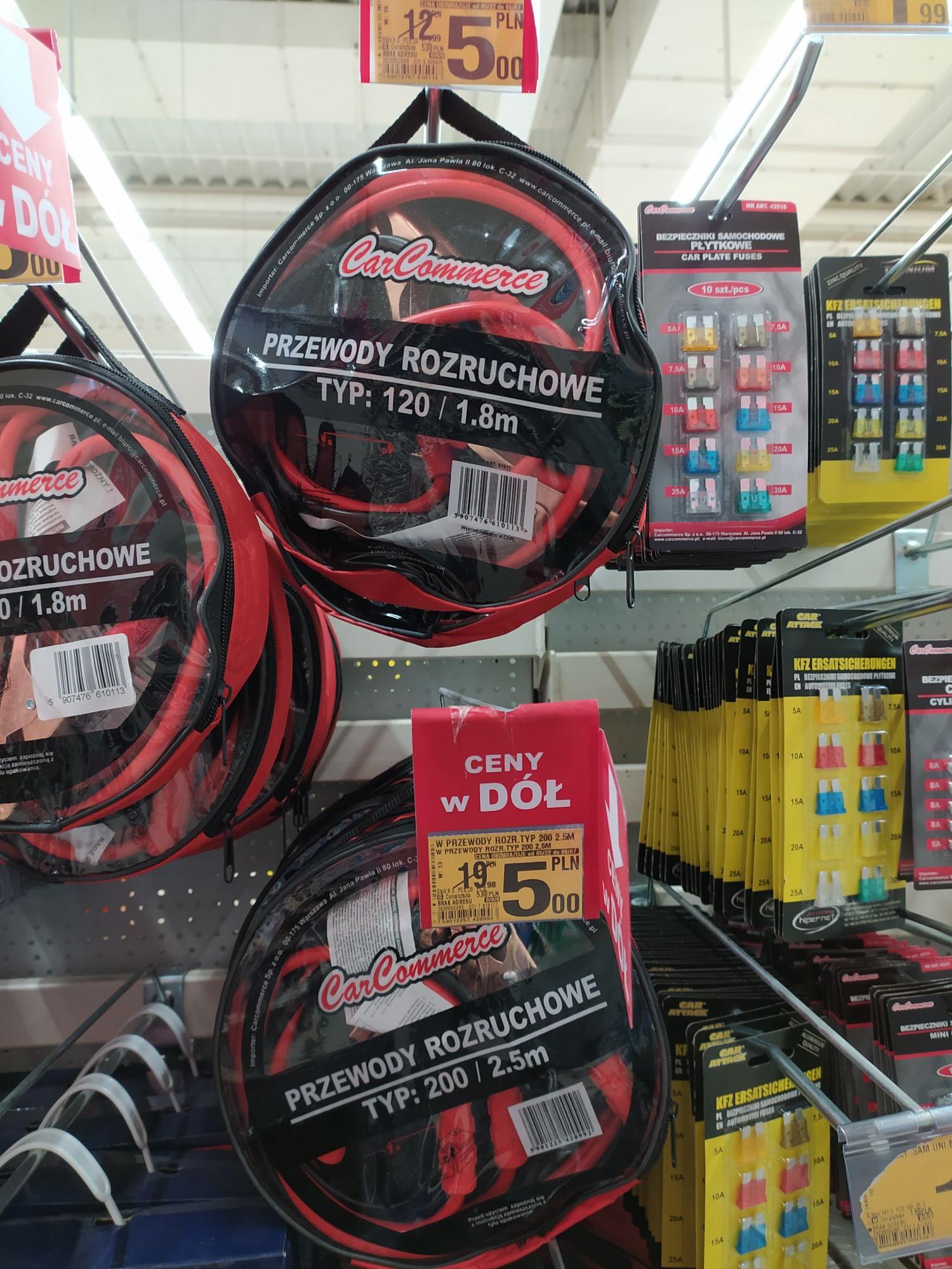 Kable rozruchowe 200 400 600 Auchan Bytom