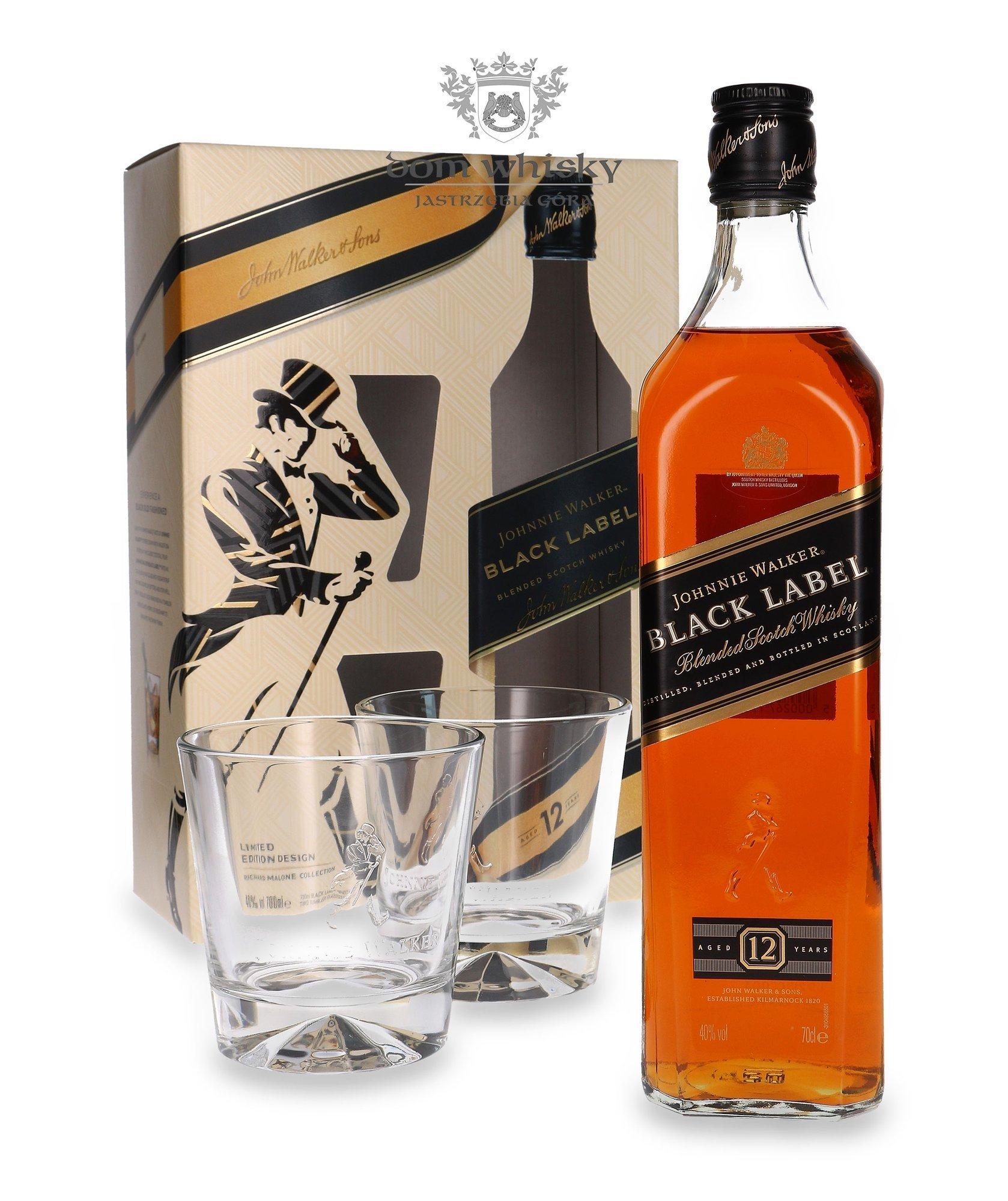 Whisky JW Black Label + 2 szklanki (84 zł), Tullamore DEW + 2 szklanki (62 zł), Teeling Whiskey Plantation Rum (140 zł) Auchan Kraków Bora