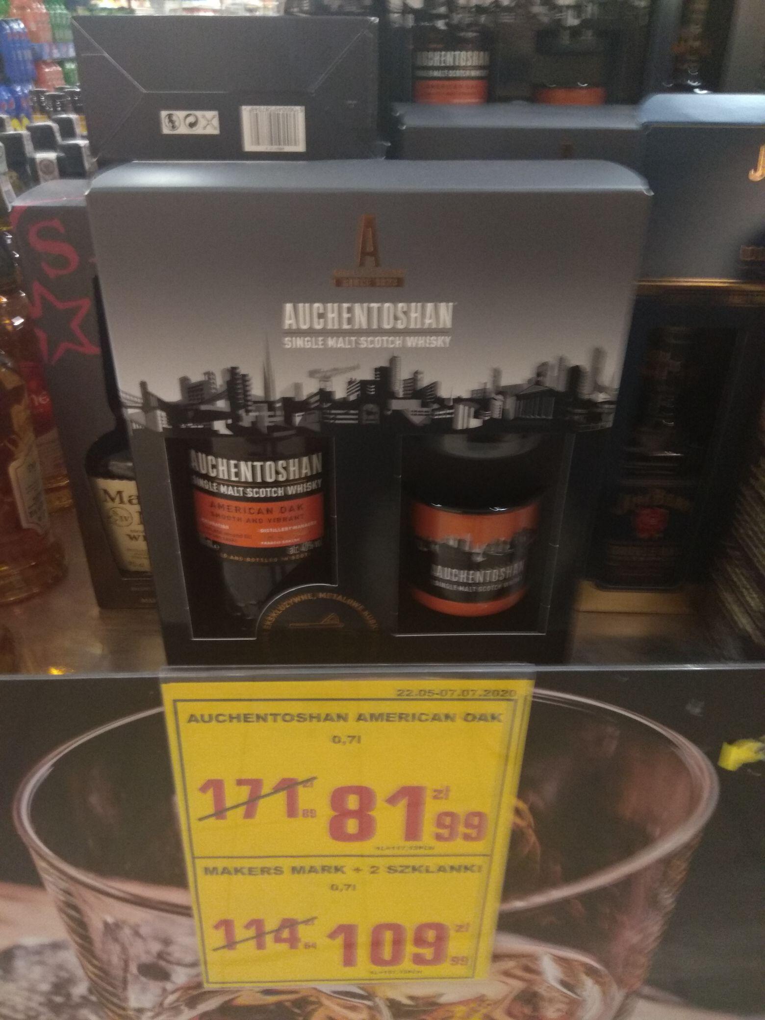 Whisky Auchentoshan American Oak single malt 0.7 l. + 2 kubki