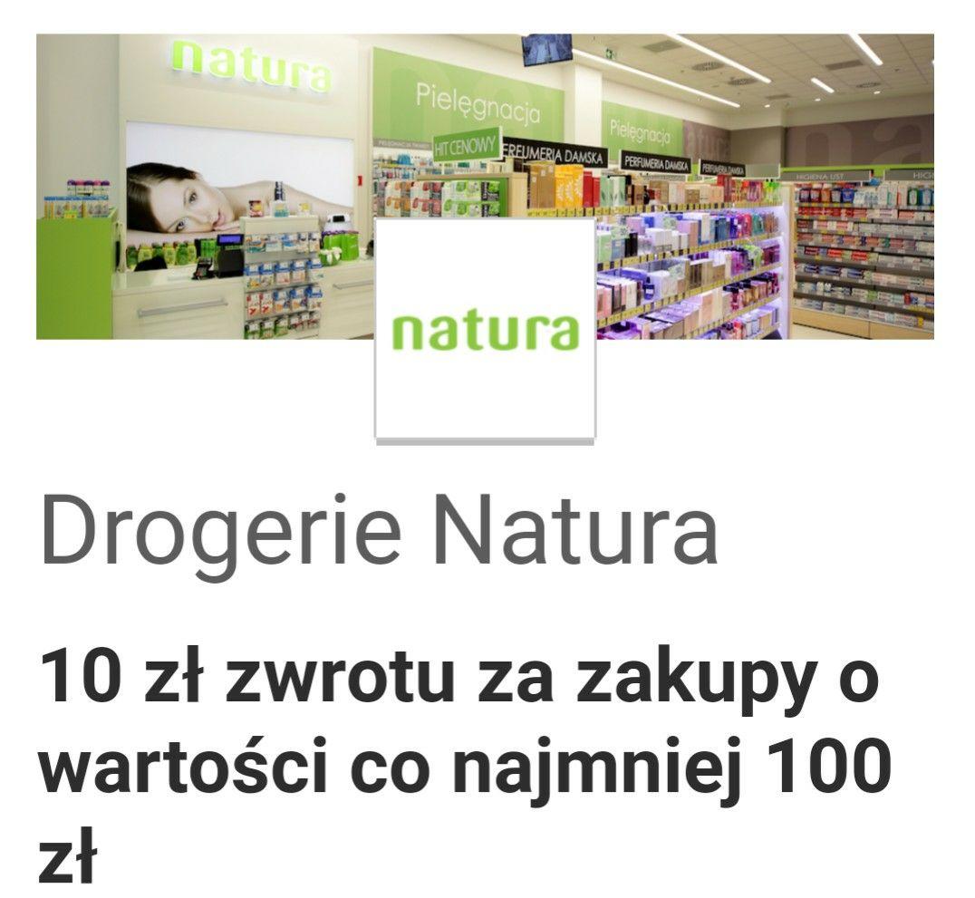 Visa oferty Drogerie Natura 10 zł zwrotu za zakupy o wartości co najmniej 100 zł + darmowa dostawa MWZ 70 zł