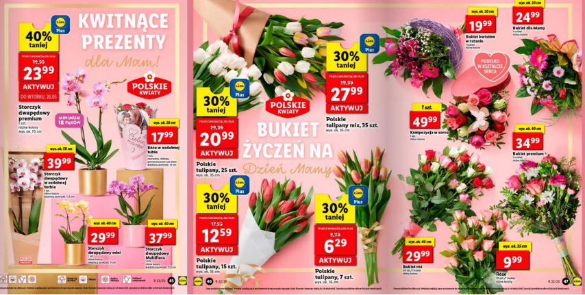 Zestawienie promocji kwiatów na dzień Matki