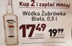 Wódka Żubrówka Biała 0,5l za 17, 49 zł przy zakupie 2szt. w Biedronce