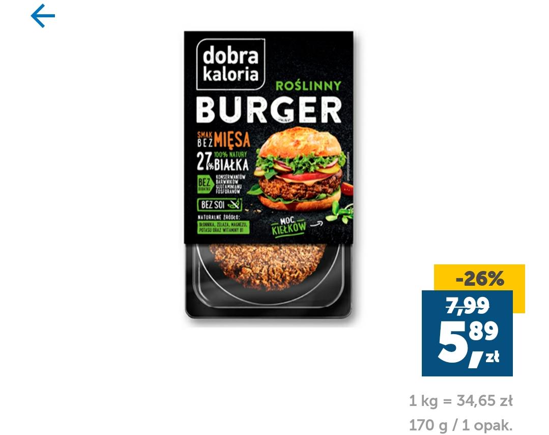 Dobra Kaloria Burger Roślinny. Lidl