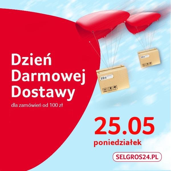 Darmowa dostawa w Selgros24.pl 25.05 MWZ 100zł