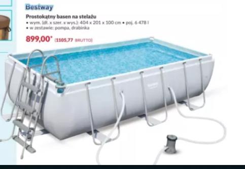 Basen Bestway 404x201x100 w Makro Cash &Carry.Inne wielkości również w dobrych cenach.