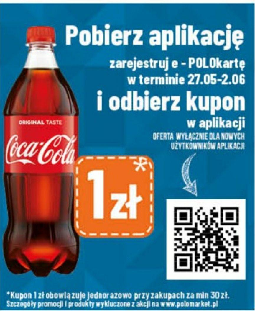 Butelka Coca-Coli za 1 zł przy pobraniu aplikacji i zarejestrowaniu e-POLOkarty
